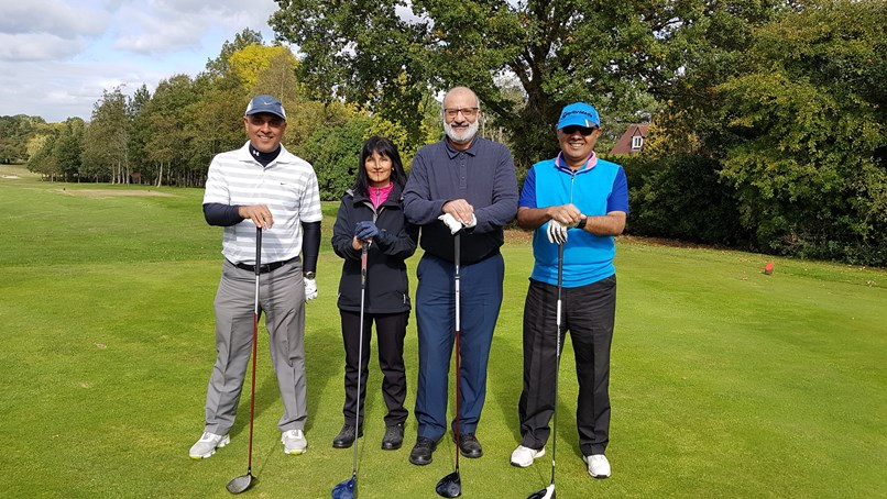 Sydney Mitchell Charity Golf raises £2600 for charity - 3rd Place - Sydney Mitchell Fahmida Ismail Team